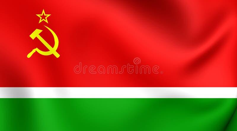 Флаг литовского SSR иллюстрация вектора
