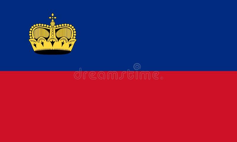 флаг Лихтенштейн бесплатная иллюстрация