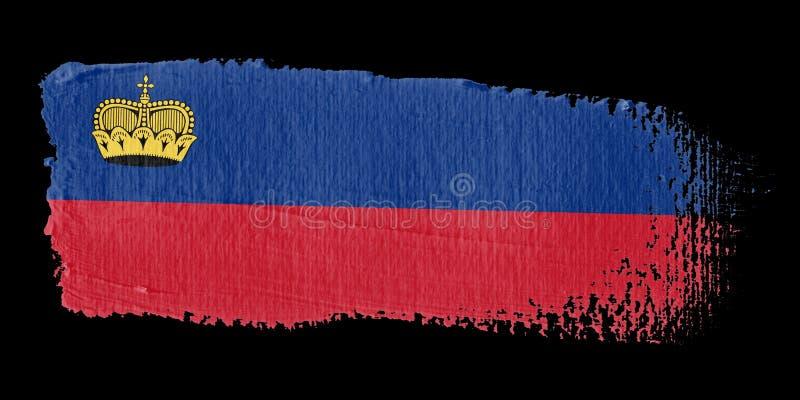 флаг Лихтенштейн brushstroke иллюстрация вектора