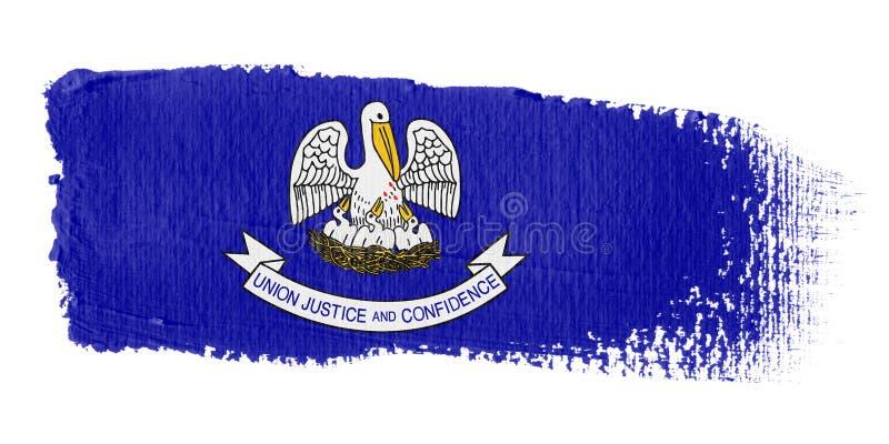 флаг Луизиана brushstroke иллюстрация штока