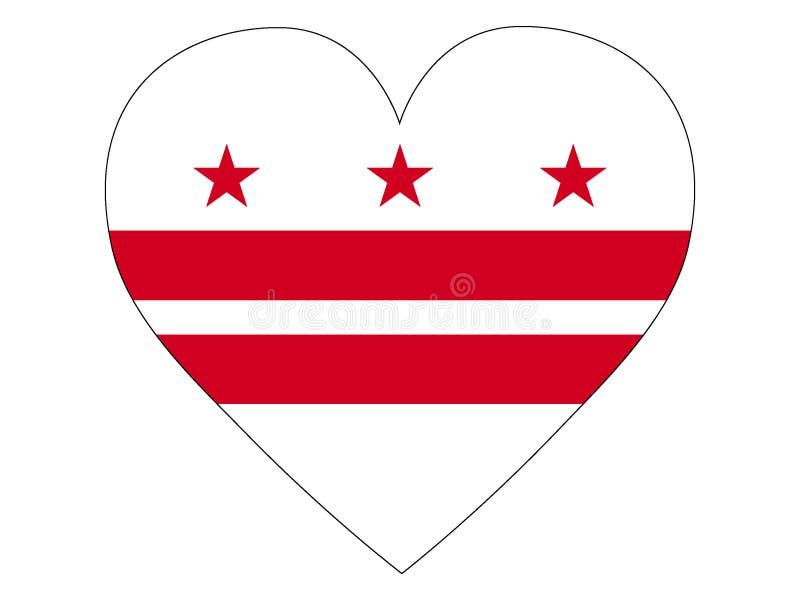 Флаг любов государства США DC Вашингтона бесплатная иллюстрация