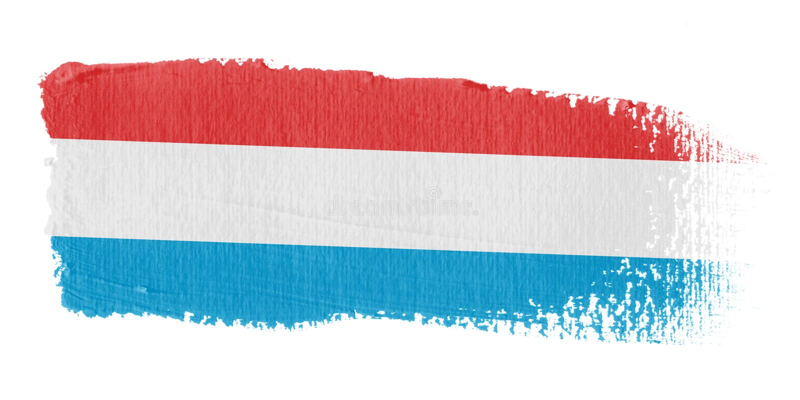 флаг Люксембург brushstroke бесплатная иллюстрация