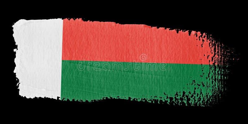 флаг Мадагаскар brushstroke бесплатная иллюстрация