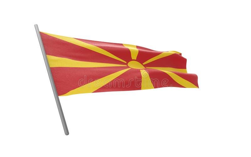 Флаг Македонии иллюстрация штока