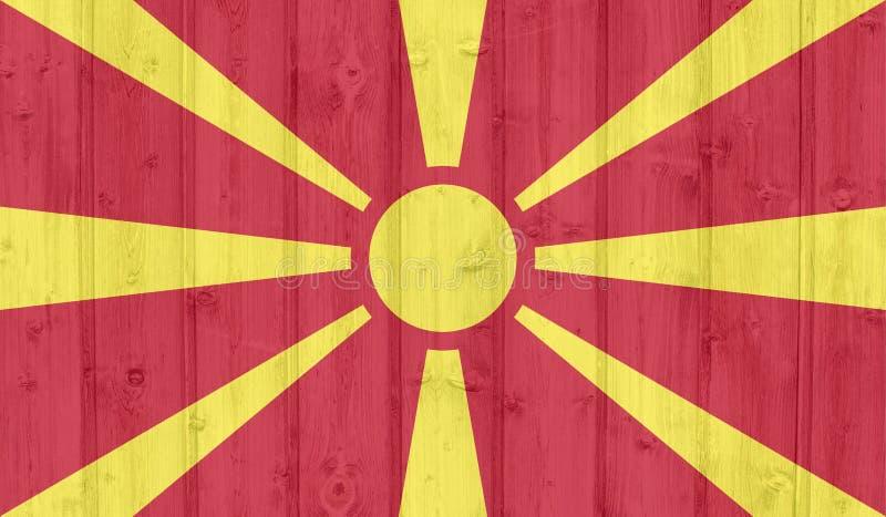 Флаг Македонии Grunge стоковые изображения rf