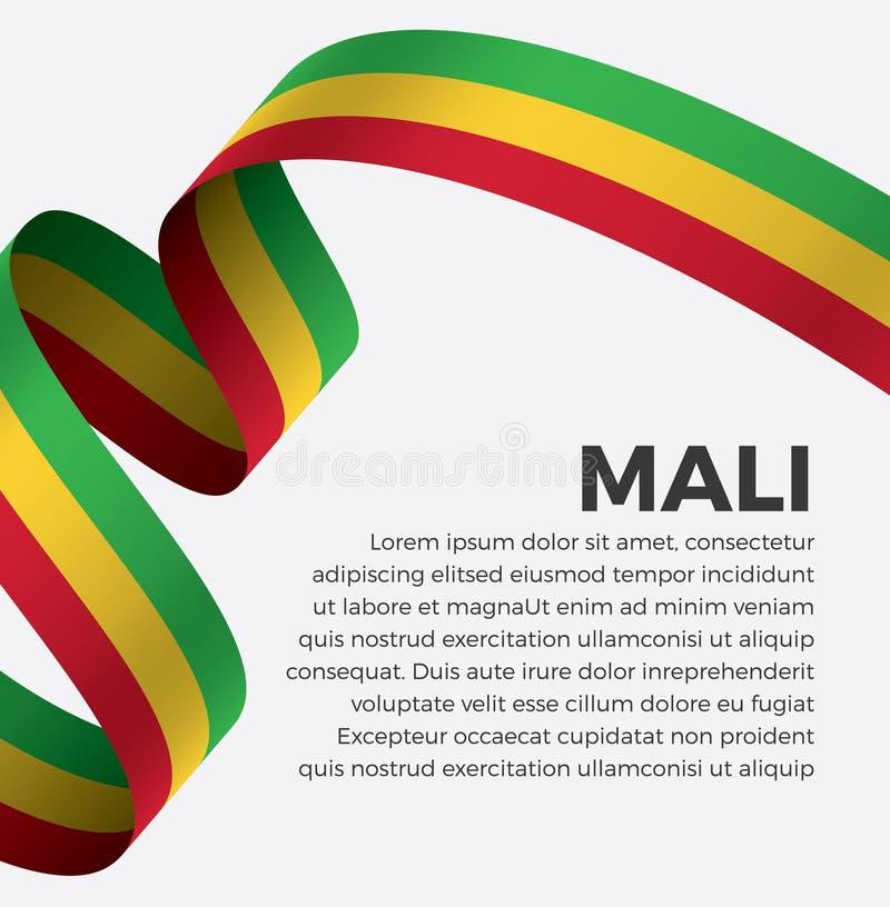 Флаг Мали для декоративного Предпосылка вектора стоковые изображения rf