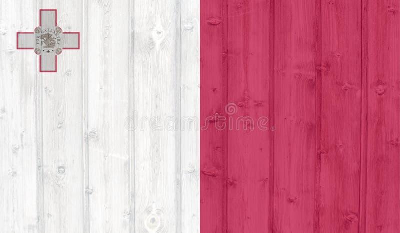 Флаг Мальты Grunge стоковое изображение