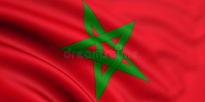 флаг Марокко иллюстрация вектора
