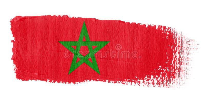 флаг Марокко brushstroke иллюстрация штока