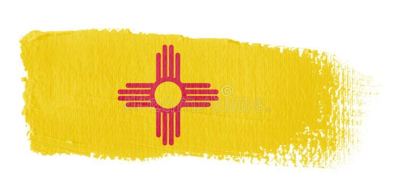 флаг Мексика brushstroke новая иллюстрация штока