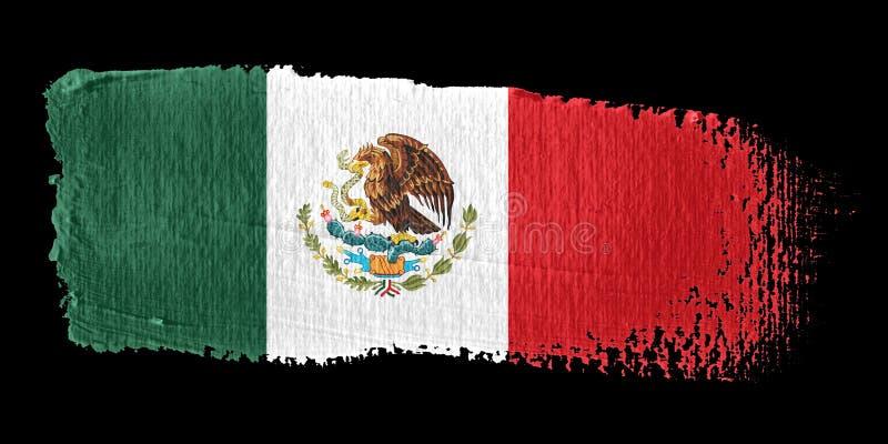 флаг Мексика brushstroke иллюстрация штока