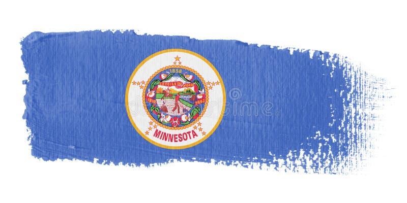 флаг Минесота brushstroke бесплатная иллюстрация