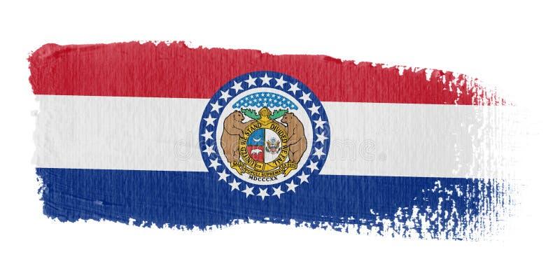 флаг Миссури brushstroke иллюстрация вектора