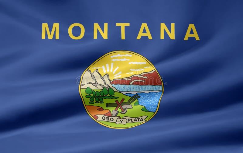 флаг Монтана иллюстрация штока