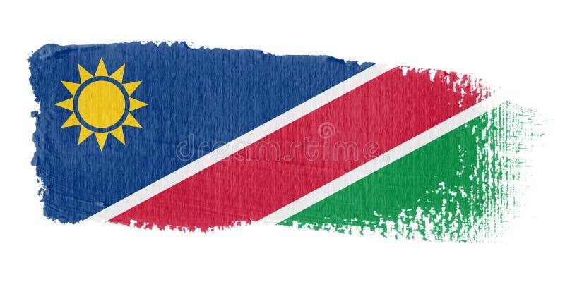 флаг Намибия brushstroke иллюстрация вектора