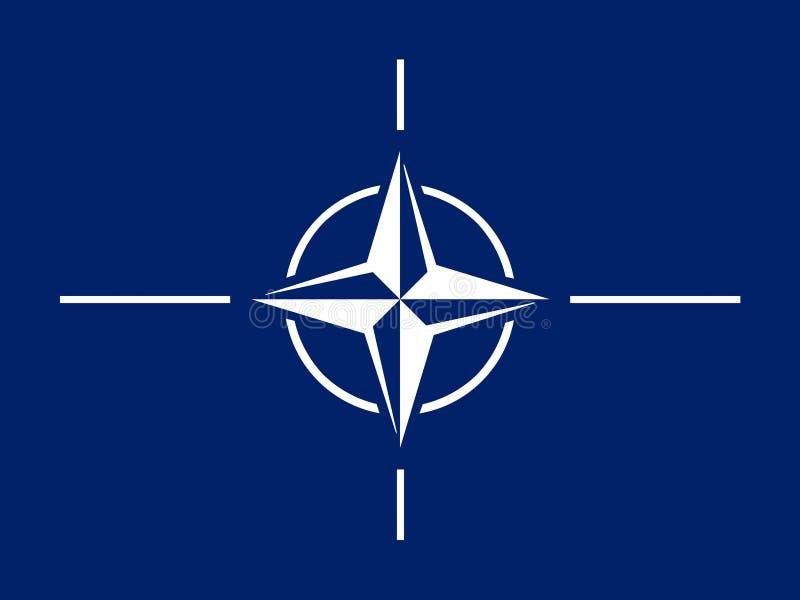 Флаг НАТО стоковые изображения