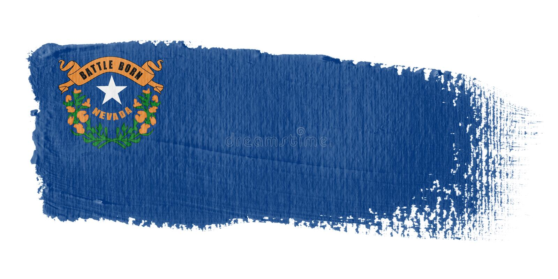 флаг Невада brushstroke иллюстрация штока