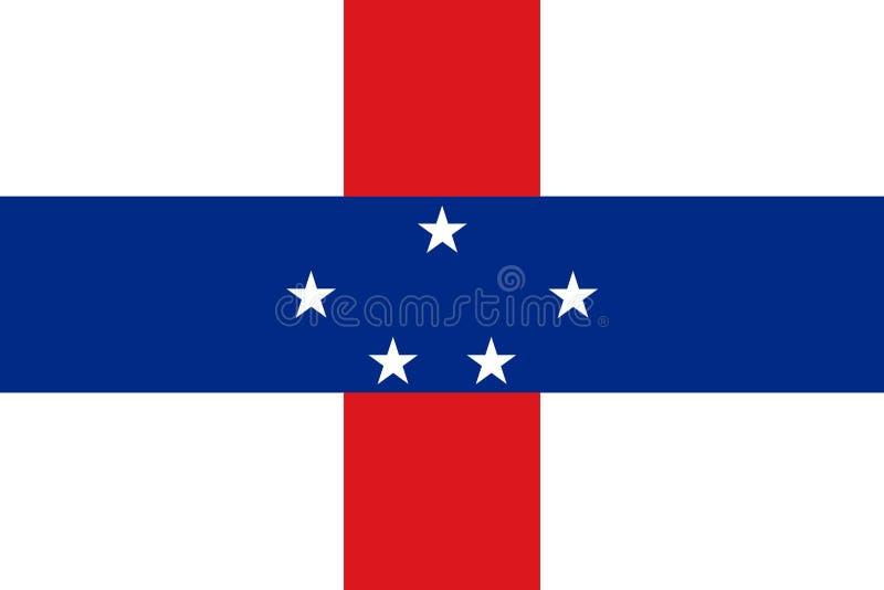 Флаг Нидерландские Антильские острова стоковые фотографии rf