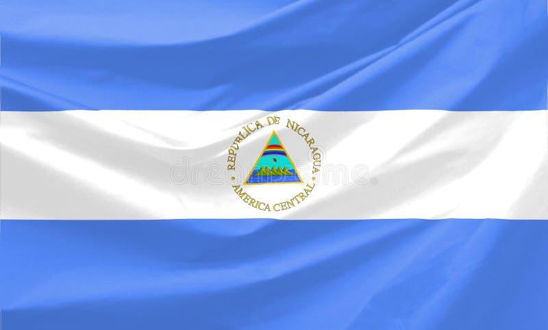 флаг Никарагуа иллюстрация штока