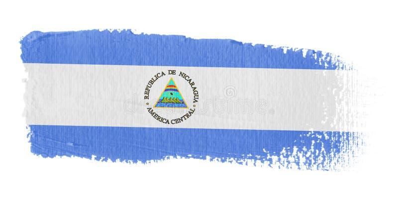 флаг Никарагуа brushstroke иллюстрация вектора