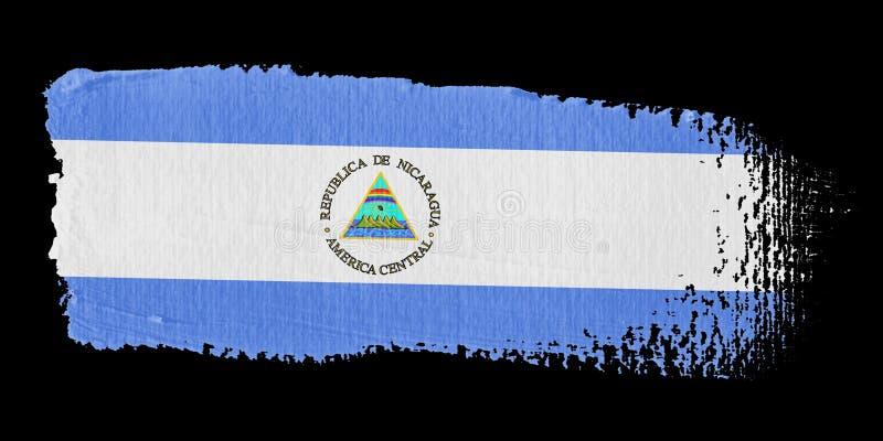 флаг Никарагуа brushstroke иллюстрация штока