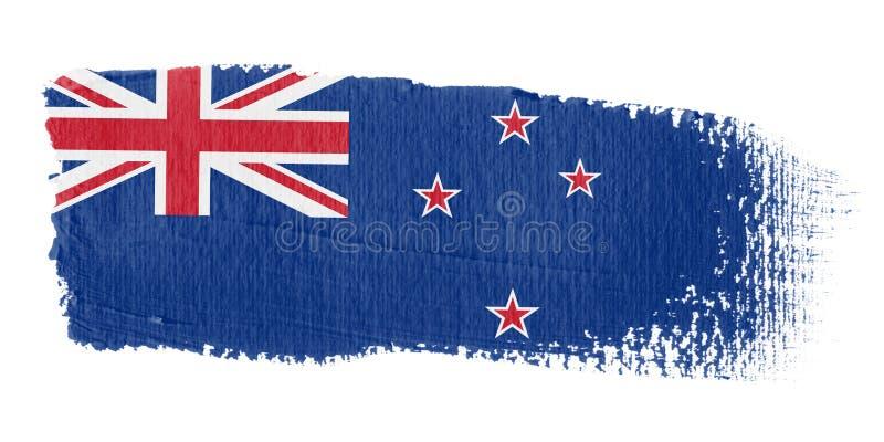 флаг Новая Зеландия brushstroke иллюстрация штока
