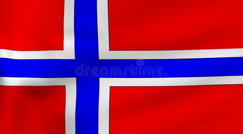 флаг Норвегия иллюстрация штока