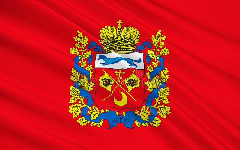 Флаг области Оренбурга, Российской Федерации стоковые изображения rf