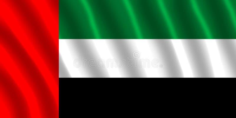 Флаг Объединенных эмиратов иллюстрация штока