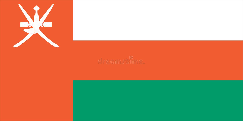 флаг Оман иллюстрация вектора