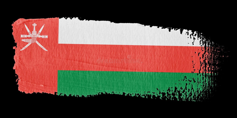 флаг Оман brushstroke иллюстрация вектора