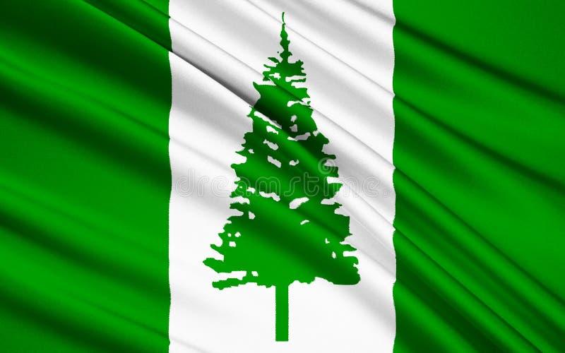 Флаг Острова Норфолк Австралии - Кингстона стоковое фото