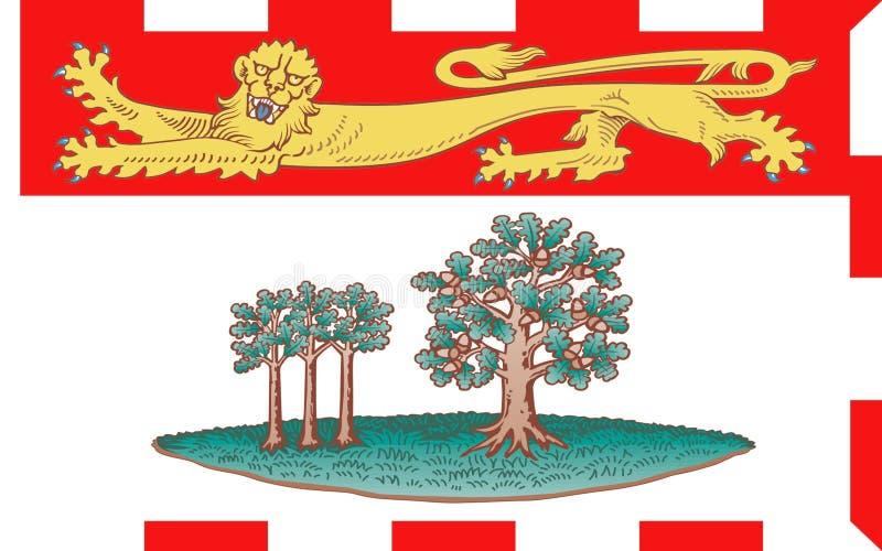 Флаг Острова Принца Эдуарда, Канады стоковая фотография