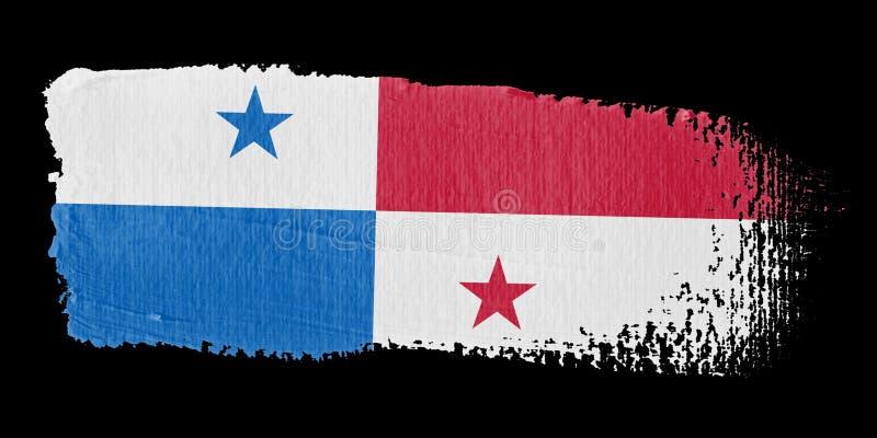 флаг Панама brushstroke иллюстрация вектора