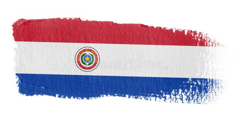 флаг Парагвай brushstroke иллюстрация вектора