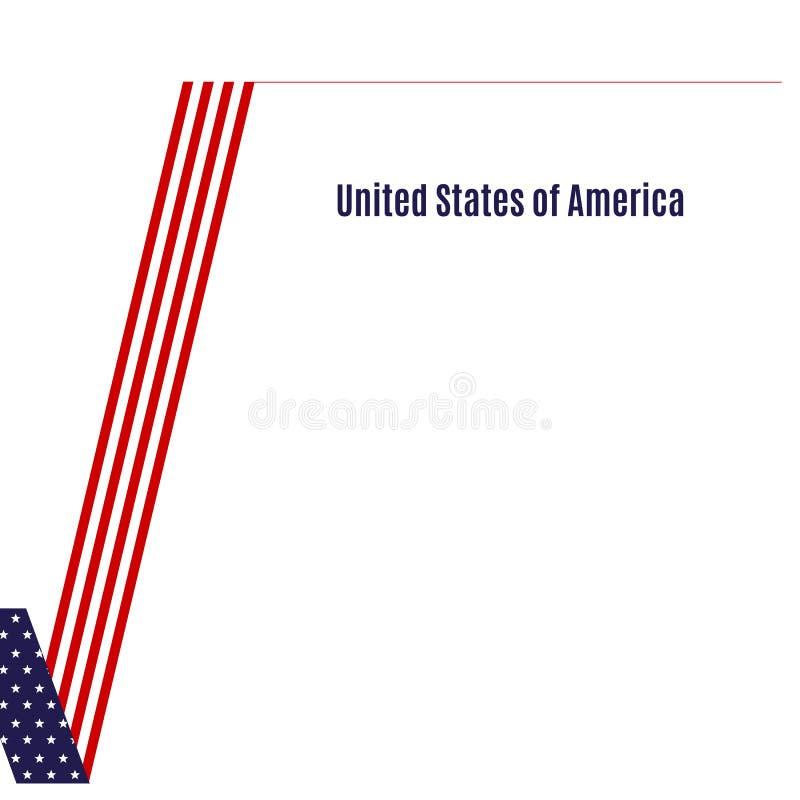 Флаг патриотической предпосылки американский элемента дизайна контрольной пометки для темы брошюры знамени карты плана шаблона па иллюстрация вектора