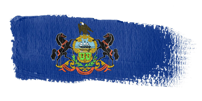 флаг Пенсильвания brushstroke бесплатная иллюстрация