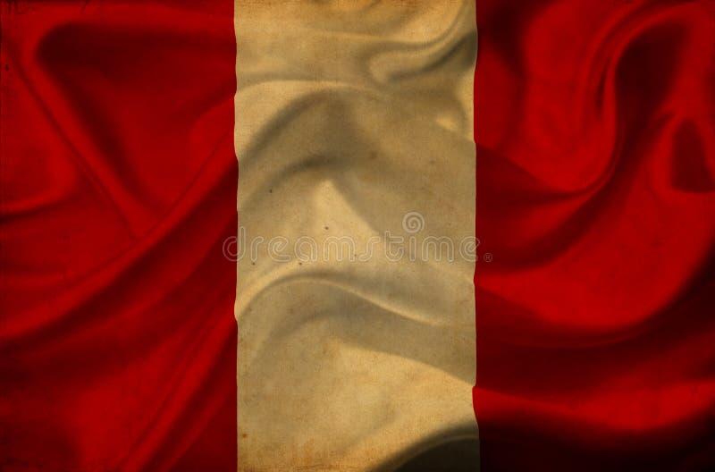 Флаг Перу развевая стоковая фотография