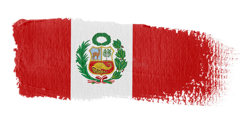 флаг Перу brushstroke бесплатная иллюстрация