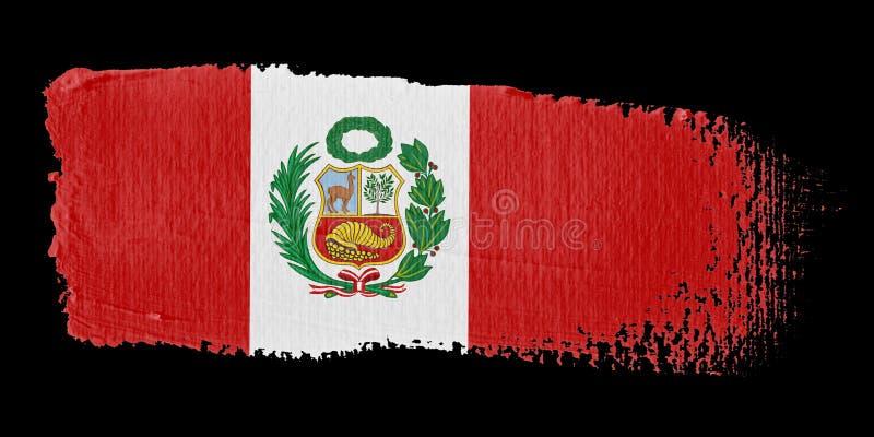 флаг Перу brushstroke иллюстрация вектора
