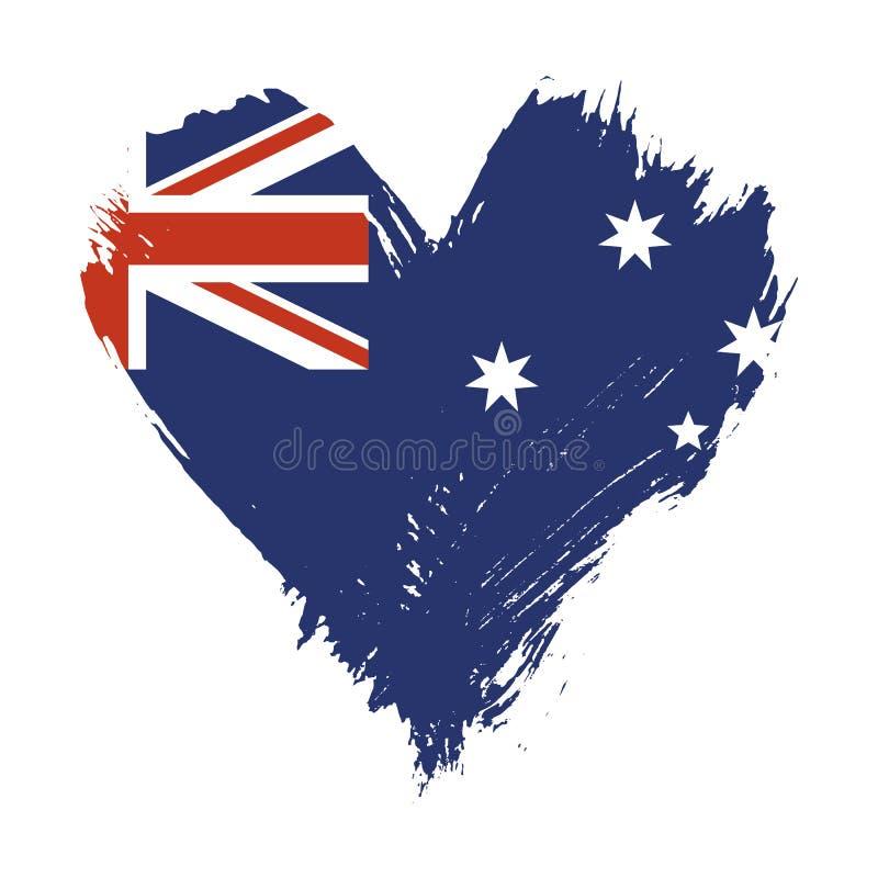 Флаг покрашенный Brushstroke Австралии иллюстрация штока