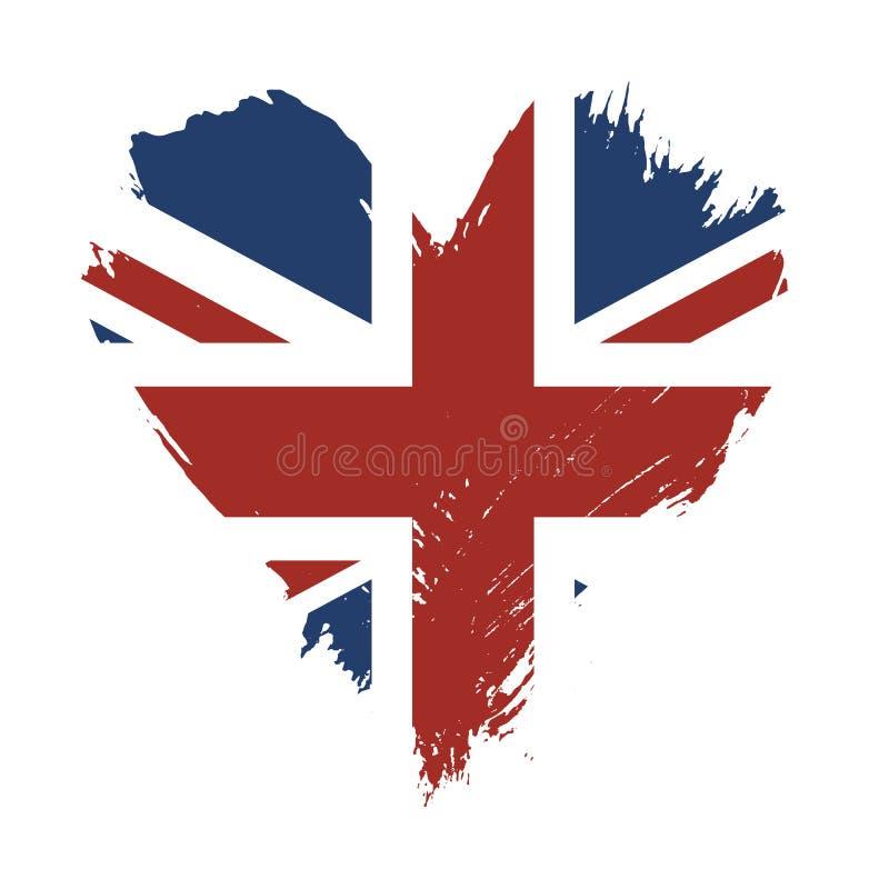 Флаг покрашенный Brushstroke Великобритании иллюстрация вектора