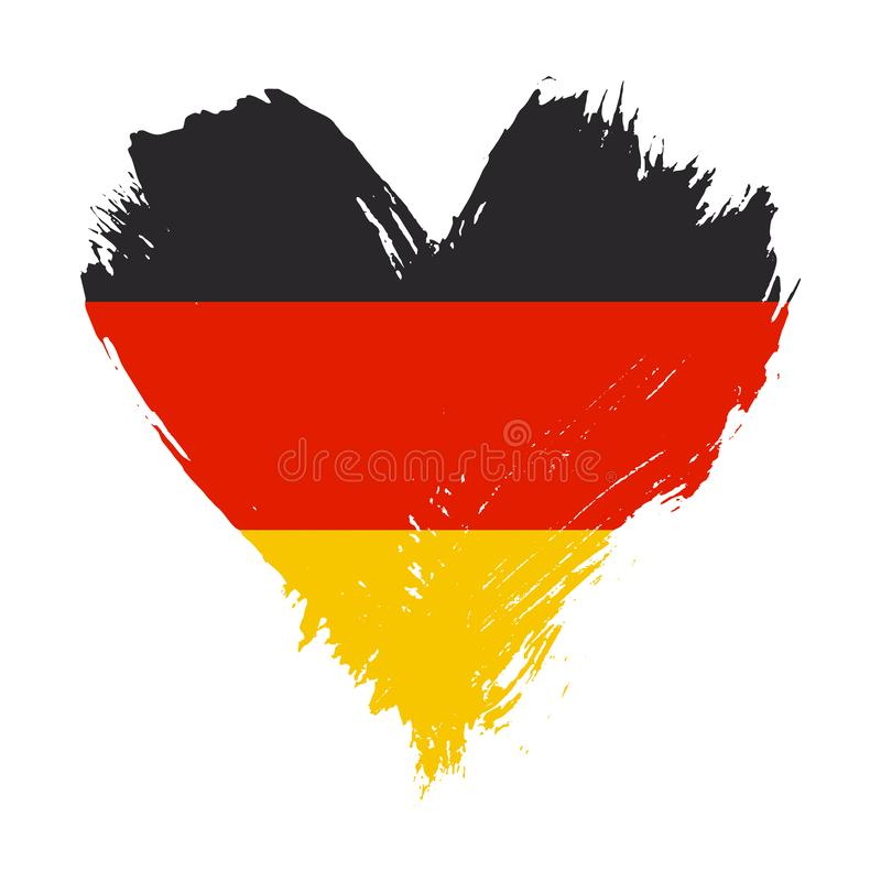 Флаг покрашенный Brushstroke Германии иллюстрация штока