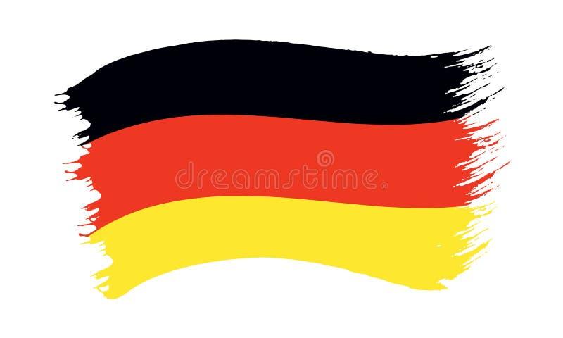Флаг покрашенный Brushstroke Германии бесплатная иллюстрация