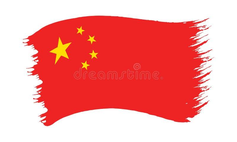 Флаг покрашенный Brushstroke Китая бесплатная иллюстрация