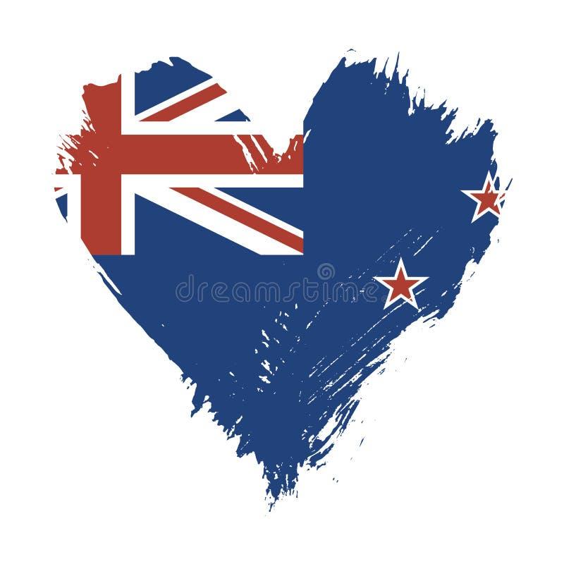 Флаг покрашенный Brushstroke Новой Зеландии иллюстрация штока