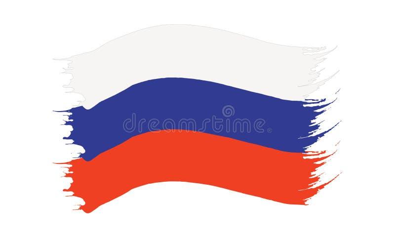Флаг покрашенный Brushstroke России бесплатная иллюстрация