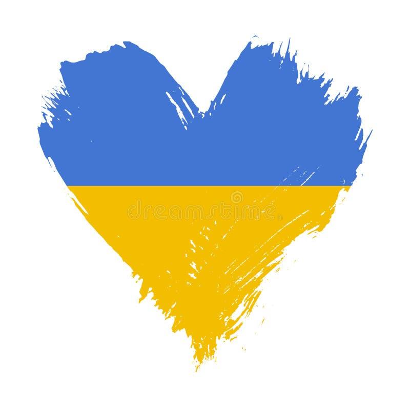Флаг покрашенный Brushstroke Украины иллюстрация штока