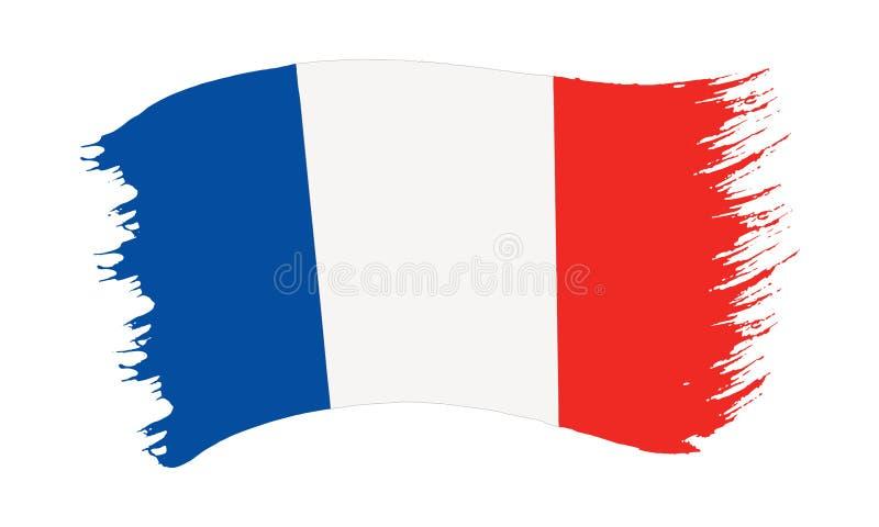 Флаг покрашенный Brushstroke Франции бесплатная иллюстрация