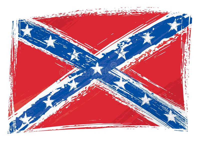 Флаг покрашенный Grunge Confederate бесплатная иллюстрация